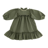 【Liilu】liana dress / floral , olive , check , misty rose