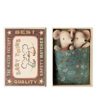 【Maileg】双子の赤ちゃんネズミ/ボーダー