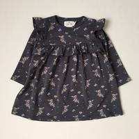 【Konges sloejd】REYA FRILL DRESS  NOSTALGIE BLUE