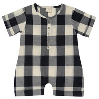【turtledove london】Check Shortie All-In-One