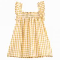 【Emile et ida】-Yellow gingham baby dress(9m,12m,18m2a)