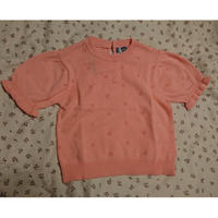 【tocoto vintage 】KNIT POINTELLE TOP  PINK