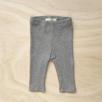 【bel & bow】Ribbed Legging - Grey Marle