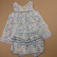 【happyology】Camille Dress & Bloomers Set, Blue