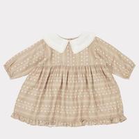 【CARAMEL】Buzzard Baby Dress, Chestnut Dotty Print