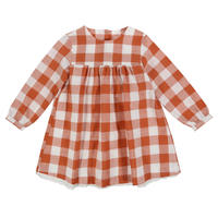 【little cotton clothes】DELSEY DRESS – RUST GINGHAM