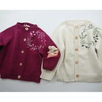 【penooras】embroidery cardigan