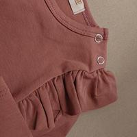 【Julie dausel】Bodysuit wings long sleeves  – Dark rose