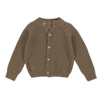 【little cotton clothes】HASTINGS COTTON MOSS STITCH CARDIGAN – mushoom