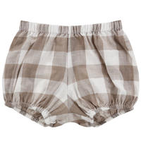 【little cotton clothes 】poppy bloomers -textured gingham in cinder