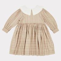 【CARAMEL】Buzzard Dress, Chestnut Dotty Print
