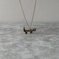 Blue Moon Crocodile Necklace