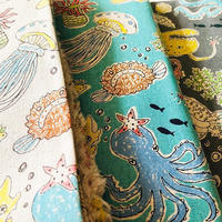 海の生物 リネン&コットン