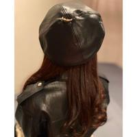 レザーアーミーベレー帽