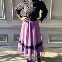 シースルーシルエットスカート