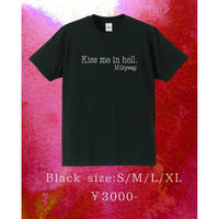 【通販限定値下げ!無くなり次第終了】「Kiss me in hell」Tシャツ 黒