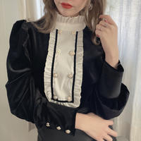 velour highneck blouse