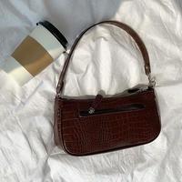 croc square hand bag