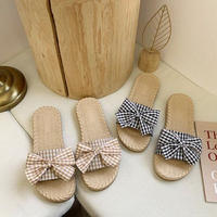 ribbon flat sandal