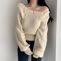 vlume sleeve square knit