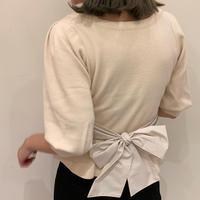 waist  back ribbon knit