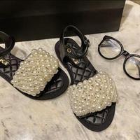 pearl bijou flat sandal