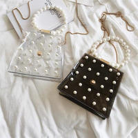 clear pearl handle bag
