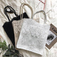 lace mesh flower bag S