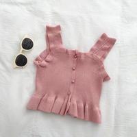 rib knit bustier
