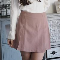 Smoky pink pleated skirt