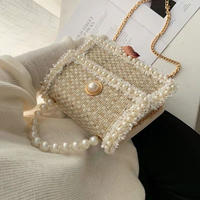 tweed pearl bag