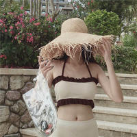 double frill  knit swimwear