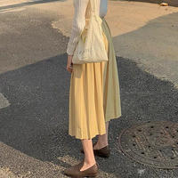 dusty yellow skirt
