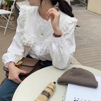 即納 square frill blouse
