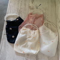 flower sheer pearl bag