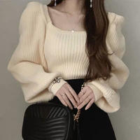 puff sleeve volume knit