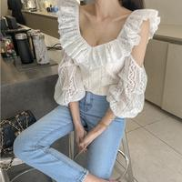 round neck cotton lace sleeve