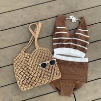 border knit swimwear