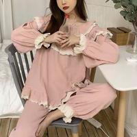 pastel frill roomwear