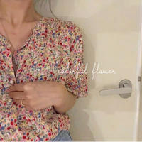 colorful flower blouse
