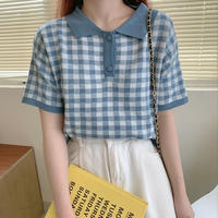 gingham check poloshirt