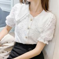 big collar blouse (short)