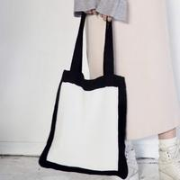 Square knit tote-bag
