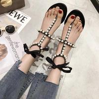 pearl laceup sandal