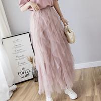 many frill tulle skirt