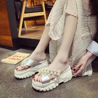 silver pearl sneaker sandal