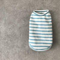 ORIGINAL border tank top . [ blue ]