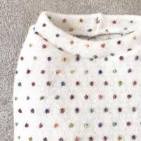 ORIGINAL mulchdot  knit tank . [ white  L , XL ]