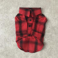 check shirt . [ red ]