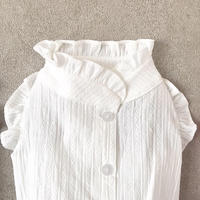 backbotão frill  shirt . [ white ]